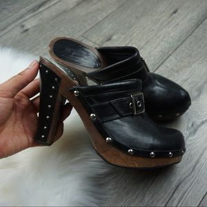 Vintage MPS Black Studded Clog